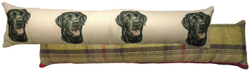 Black Labrador Draught Excluder