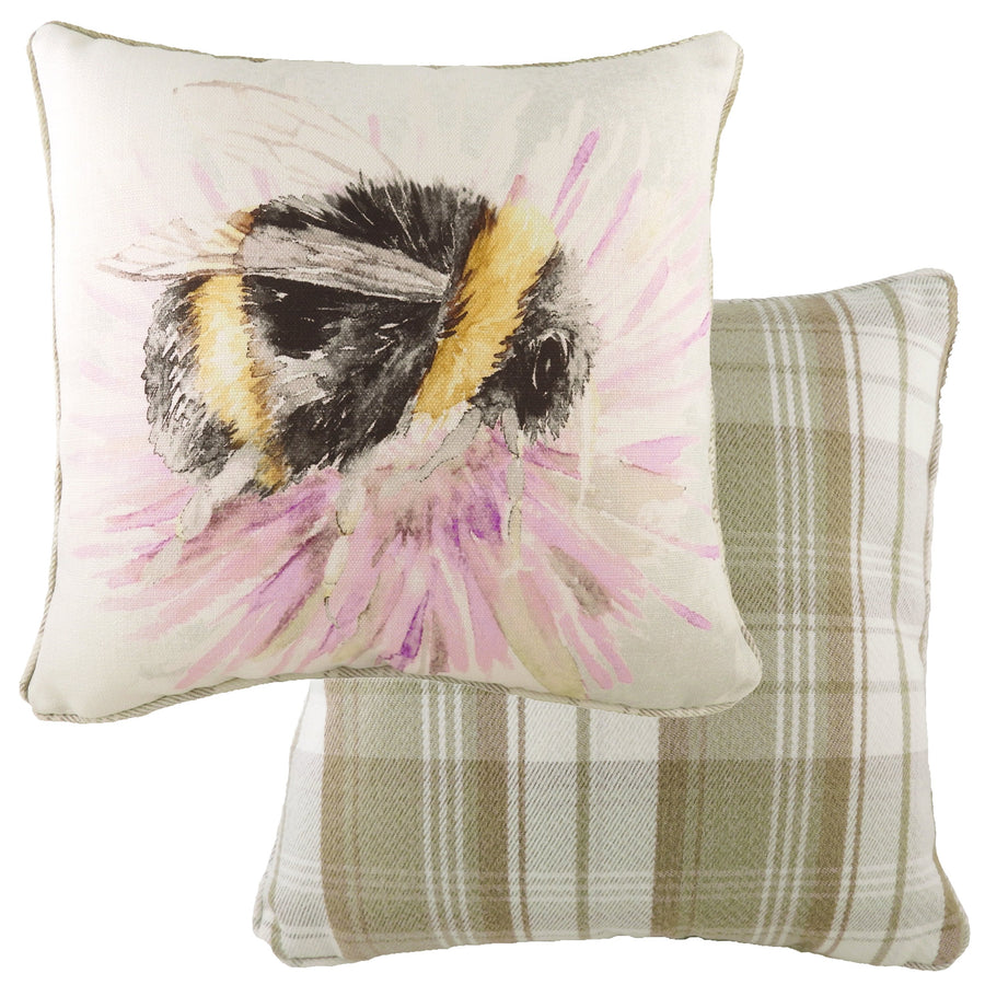 Watercolour Bee Piped Cushion