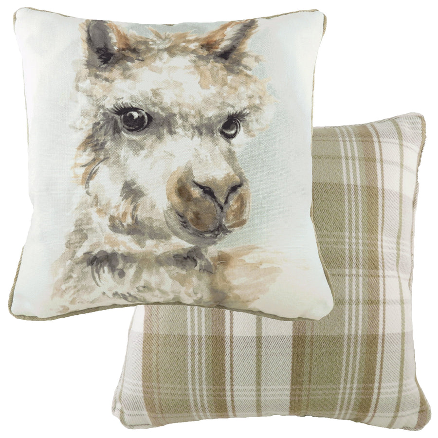 Watercolour Alpaca Piped Cushion
