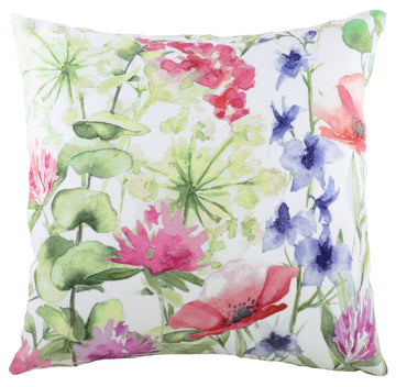 Watercolour Florals Meadow Cushion