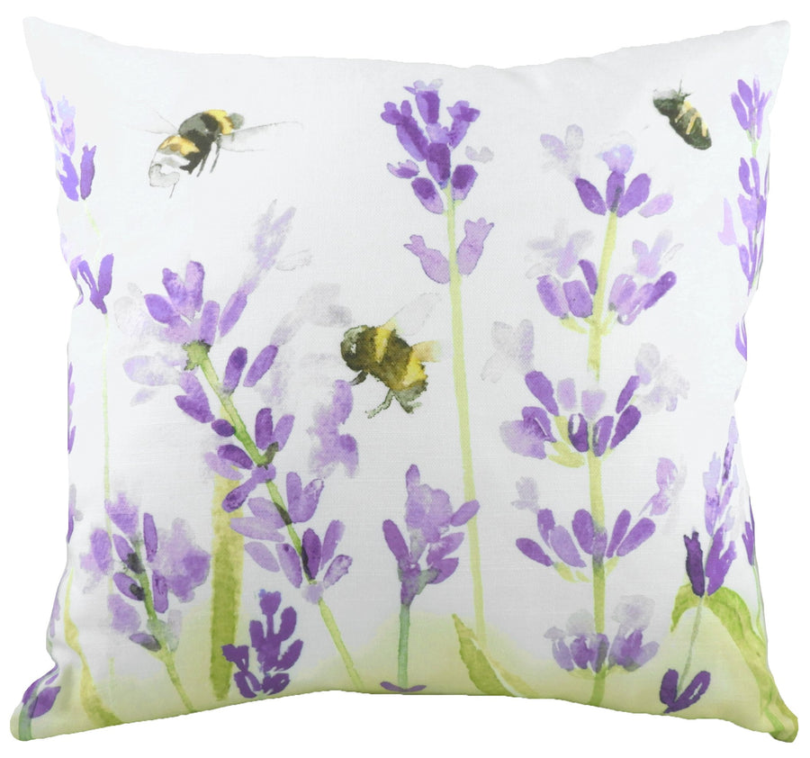 Watercolour Florals Lavender Cushion