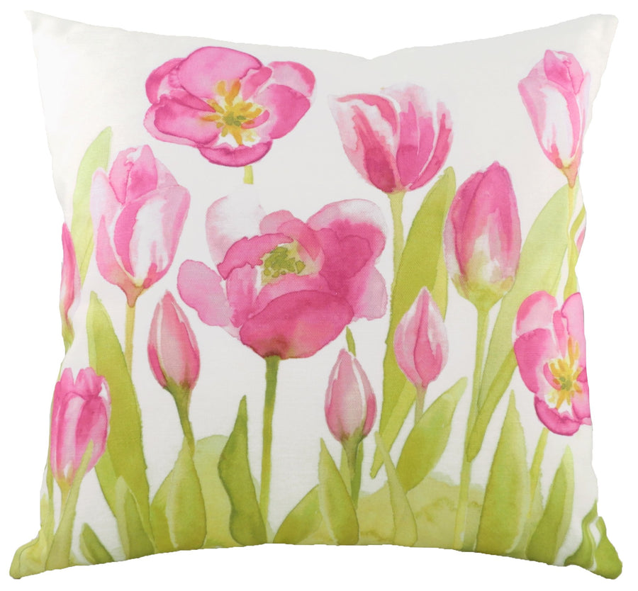 Watercolour Florals Tulips Cushion