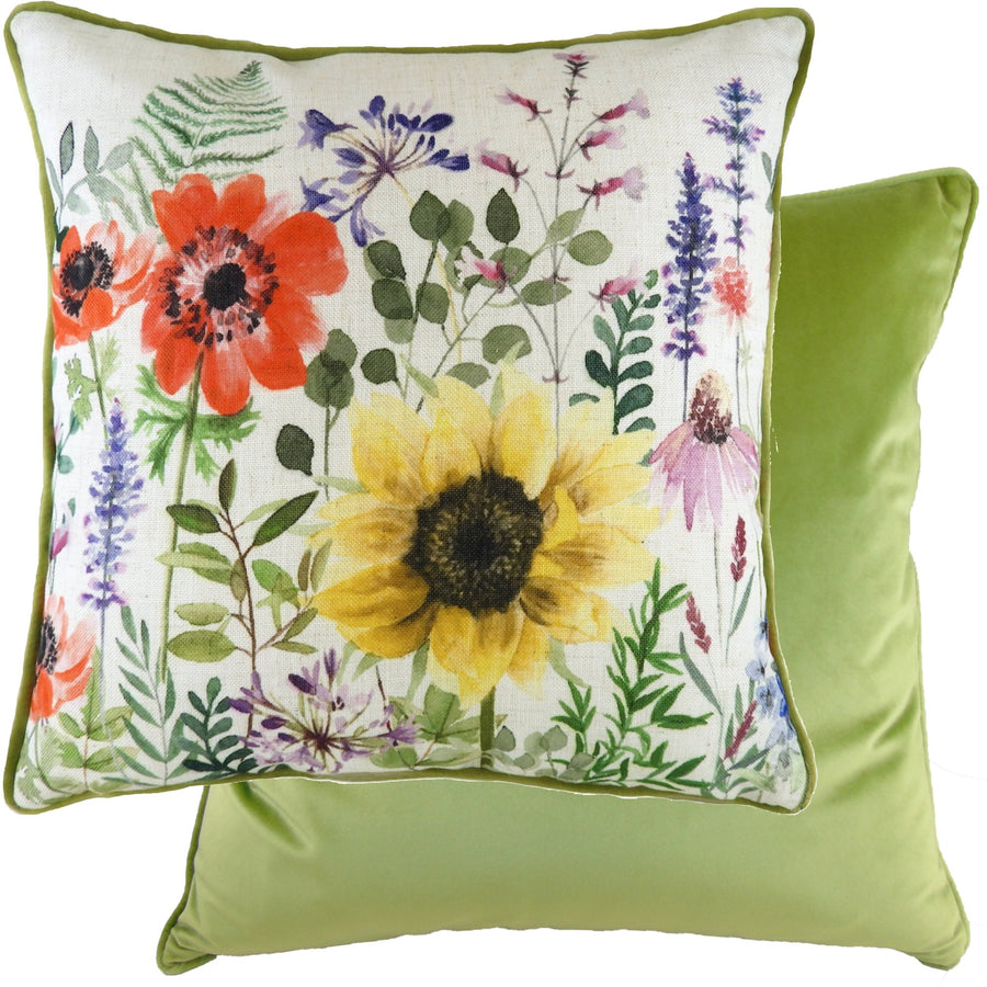 Wild Flowers Emma Piped Cushion