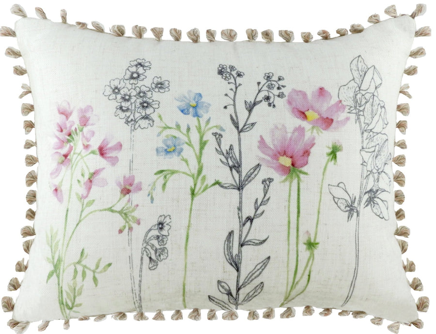 Wild Flowers Loop Trim Cushion