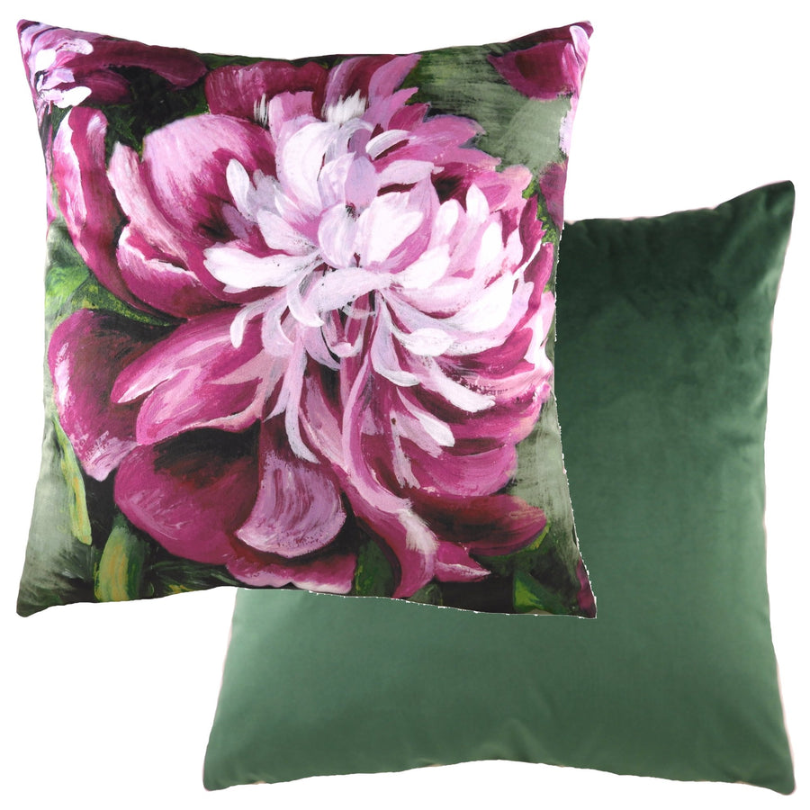 Winter Florals Peony Fuschia Cushion