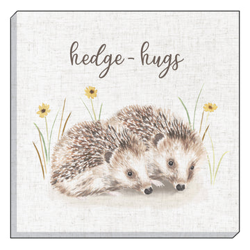 Woodland Hedge-Hugs Canvas