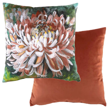 Winter Florals Chrysanthemum Terra Cushion