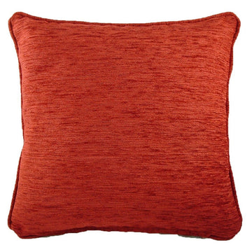 Savannah Chenille Terracotta Piped Cushion