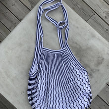Load image into Gallery viewer, Blue striped XL bag