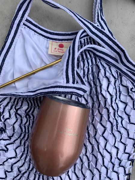 TUMBLER AND BAG AND STRAW COMBO