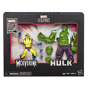 Marvel Legends 80th Anniversary Wolverine and Hulk 6-Inch Action Figures - Exclusive