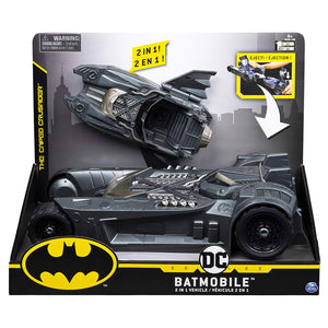 BATMAN, Batmobile and Batboat 2-in-1 Transforming Vehicle, for Use 4-Inch Action Figures