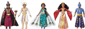 Disney Aladdin Agrabah Collection, 5 Fashion Dolls with Accessories Inspired by Disney's Live-Action Movie, Genie, Aladdin, Princess Jasmine, Dalia, Jafar