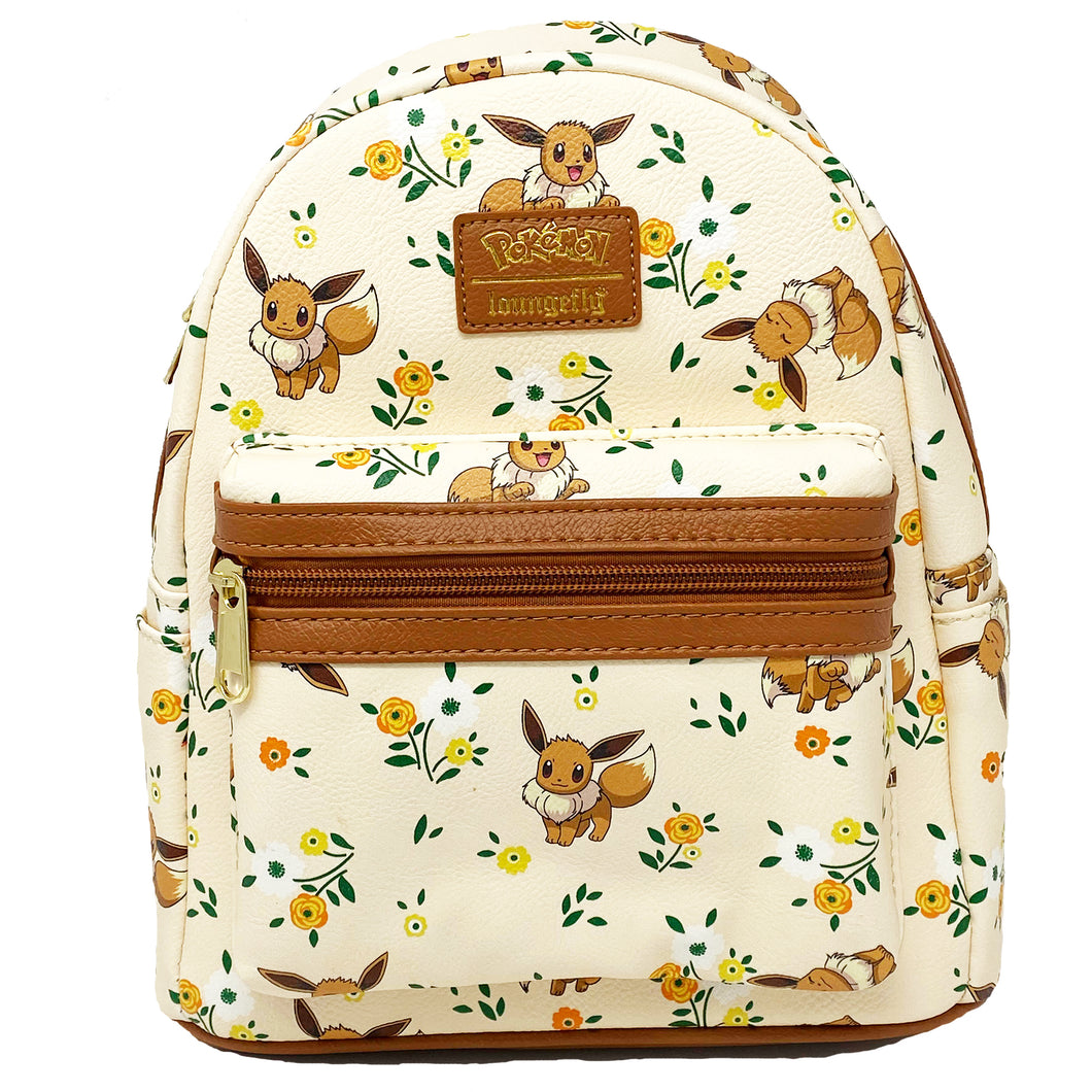 Pokemon Eevee Floral Mini Backpack Loungefly Vegan Entertainment Earth Exclusive