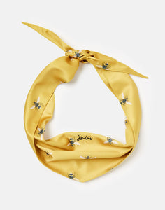 Joules Gold Bee Print Dog Neckerchief One Size