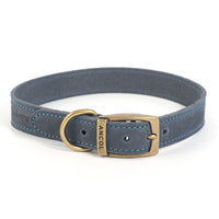 Ancol Timberwolf Leather Blue Collars & Leads