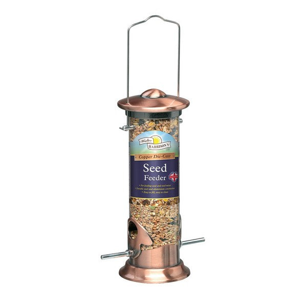 Walter Harrisons Copper Die Cast Seed Feeder
