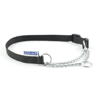 Ancol Heritage Nylon & Chain Check Collar