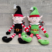 Naughty & Nice Elf Dog Toy