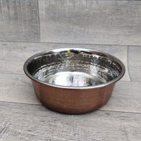Rosewood Stylish and Modern Copper Non Slip Stainless Steel Dog Bowl, 940ml