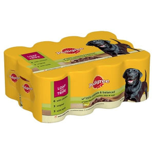 Pedigree Mixed Cans In Loaf 2x12Pk 400g