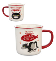 Black & White Cat Mug