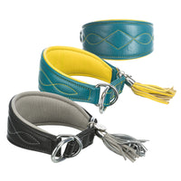 Trixie Active Leather Comfort Collars For Greyhounds & Whippets