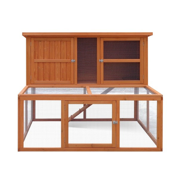 Harrisons Bowness Double Height Hutch With Run Natural (5ft) 150x121x117cm