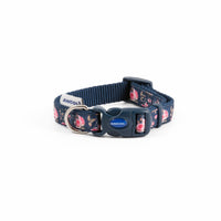 Ancol Fashion Navy Rose Collar & Lead