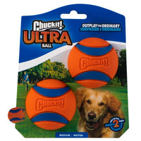 Chuckit Launcher Ultra Ball Medium 2pk 6.5cm