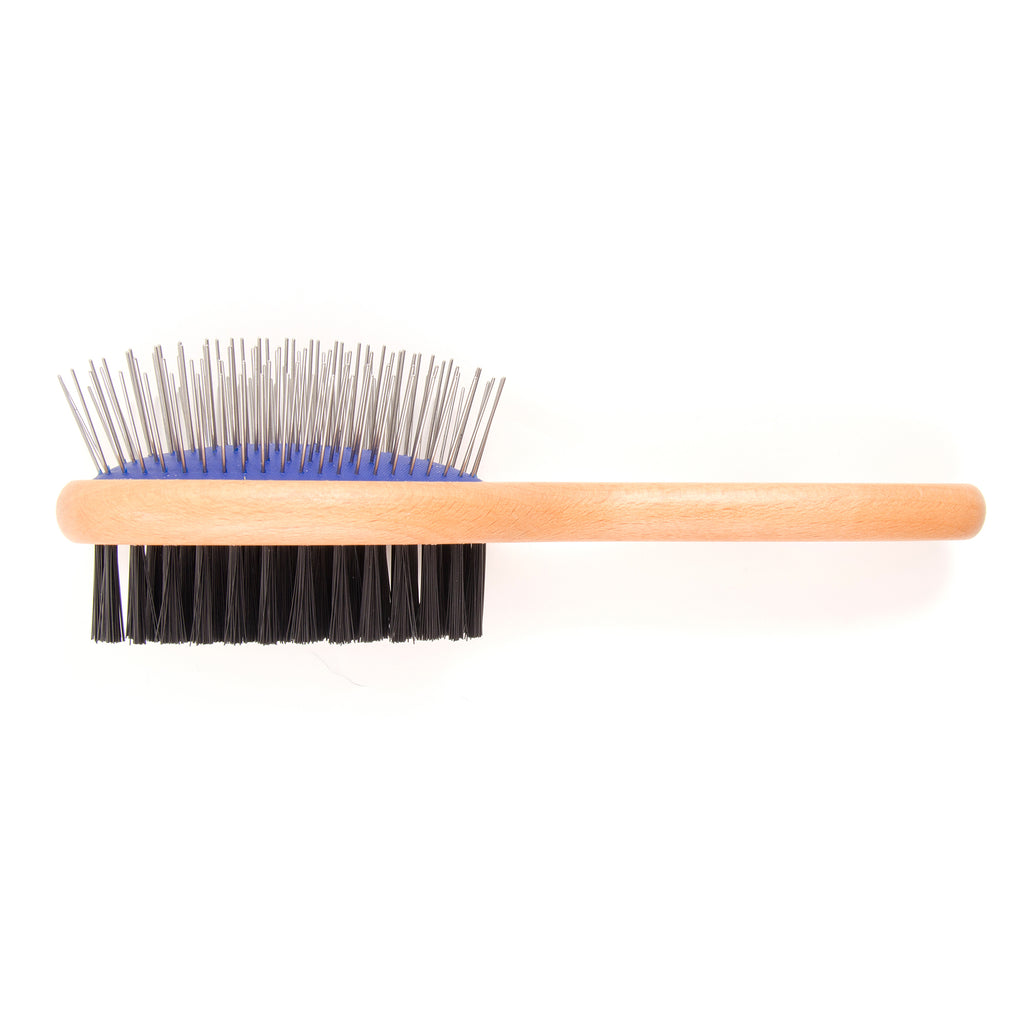 Ancol Wooden Handled Double Sided Brush Small