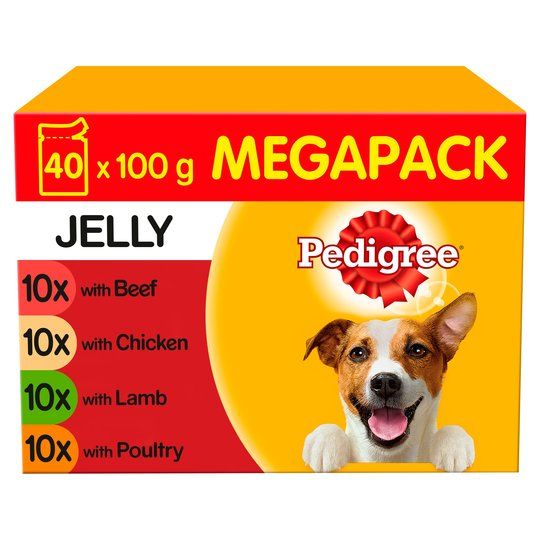 Pedigree Dog Pouches Mixed Jelly 40 X 100g