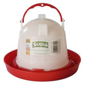 Supa Red And White Plastic Poultry Drinker