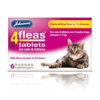 Johnsons 4Fleas Kitten Cat Tablets 6 Pack