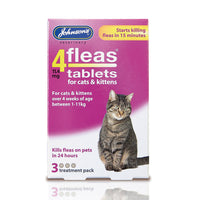 Johnsons 4Fleas Kitten Cat Tablets 3 Pack