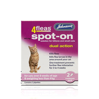 Johnson's 4fleas Spot-on Kitten 2 Vial Pack