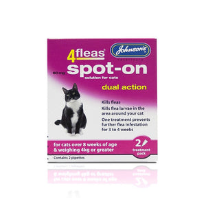 Johnson's 4fleas Spot-on Cat 2 Vial Pack