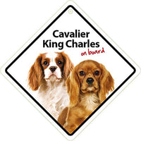 Cavalier King Charles Spaniel Dog On Board Car Window Sign