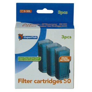 SuperFish Aqua-Flow 50 Easy Click Cartridge 3Pcs