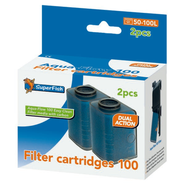 SuperFish Aqua-Flow 100 Easy Click Cartridge 2Pcs