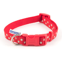 Ancol Vintage Red Polka Dot Nylon Lead & Collars