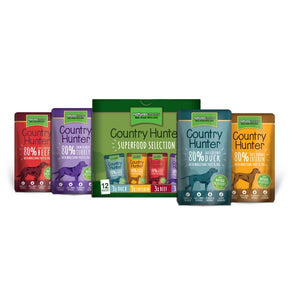 Natures Menu Country Hunter Dog Pouch Multipack 12 x 150g