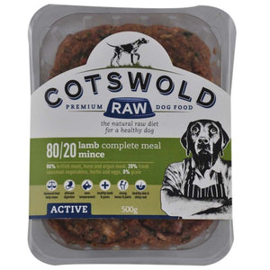Cotswold Raw 80/20 Adult Working Lamb 1kg Mince