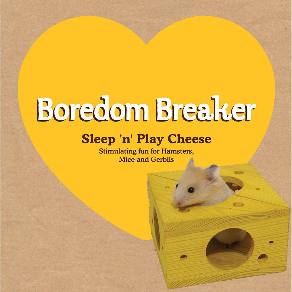 Boredom Breaker Small Animal Sleep 'n' Play Cheese