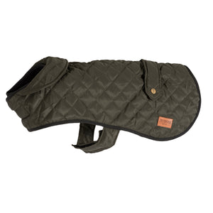 Ancol Heritage Green Quilted Blanket Dog Coat - Four Sizes