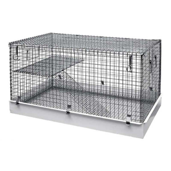 Lazy Bones Wire Rodent Cage - Single Storey