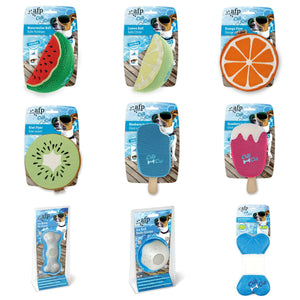 All For Paws Chill Out Dog Cooling Toys Soft Plush Summer Heat Ice Balls / Bones