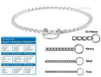 Ancol dog check chain choke fine, medium, heavy, extra heavy weight all sizes