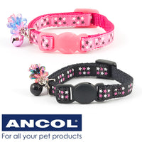 Ancol Luxury Kitten Stars Collar Pink Or Black