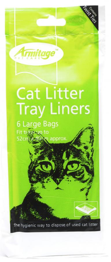 Armitage - Cat Litter Tray Liners Large 6 Per Pack - 52cm X 40cm